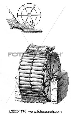 Stock Images of Water mill wheel k23204776.