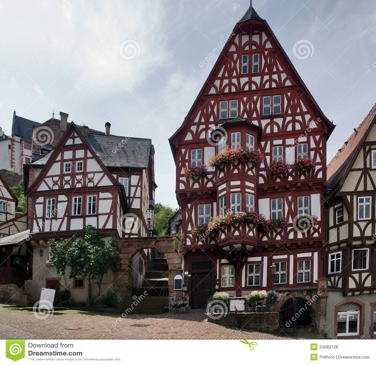 Traditional Houses Miltenberg Royalty Free Stock Photos.