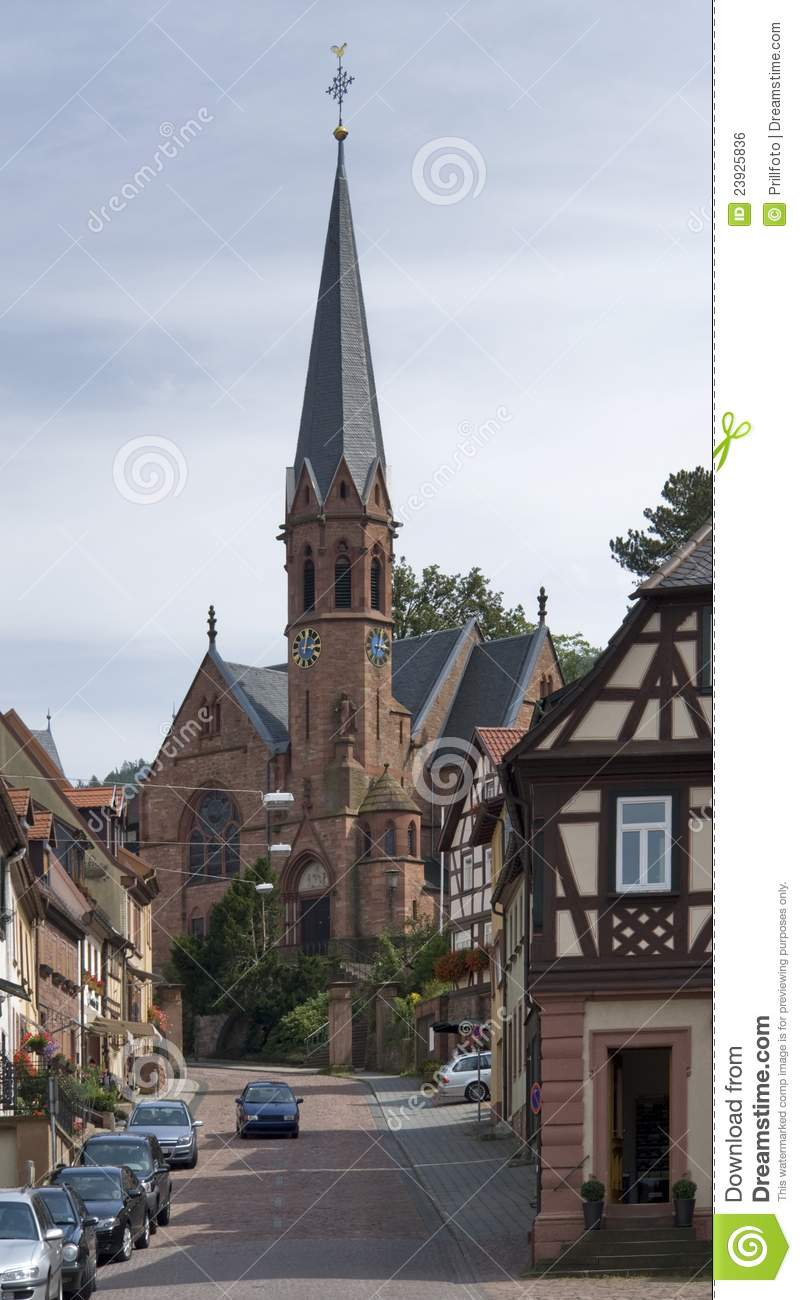Church In Miltenberg Royalty Free Stock Image.