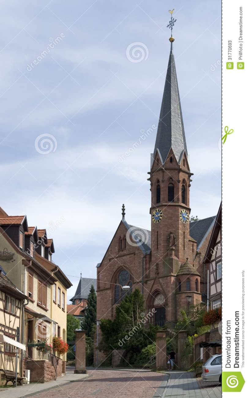 Church In Miltenberg Stock Photos.