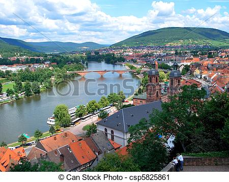 Stock Photography of Miltenberg, Germany.