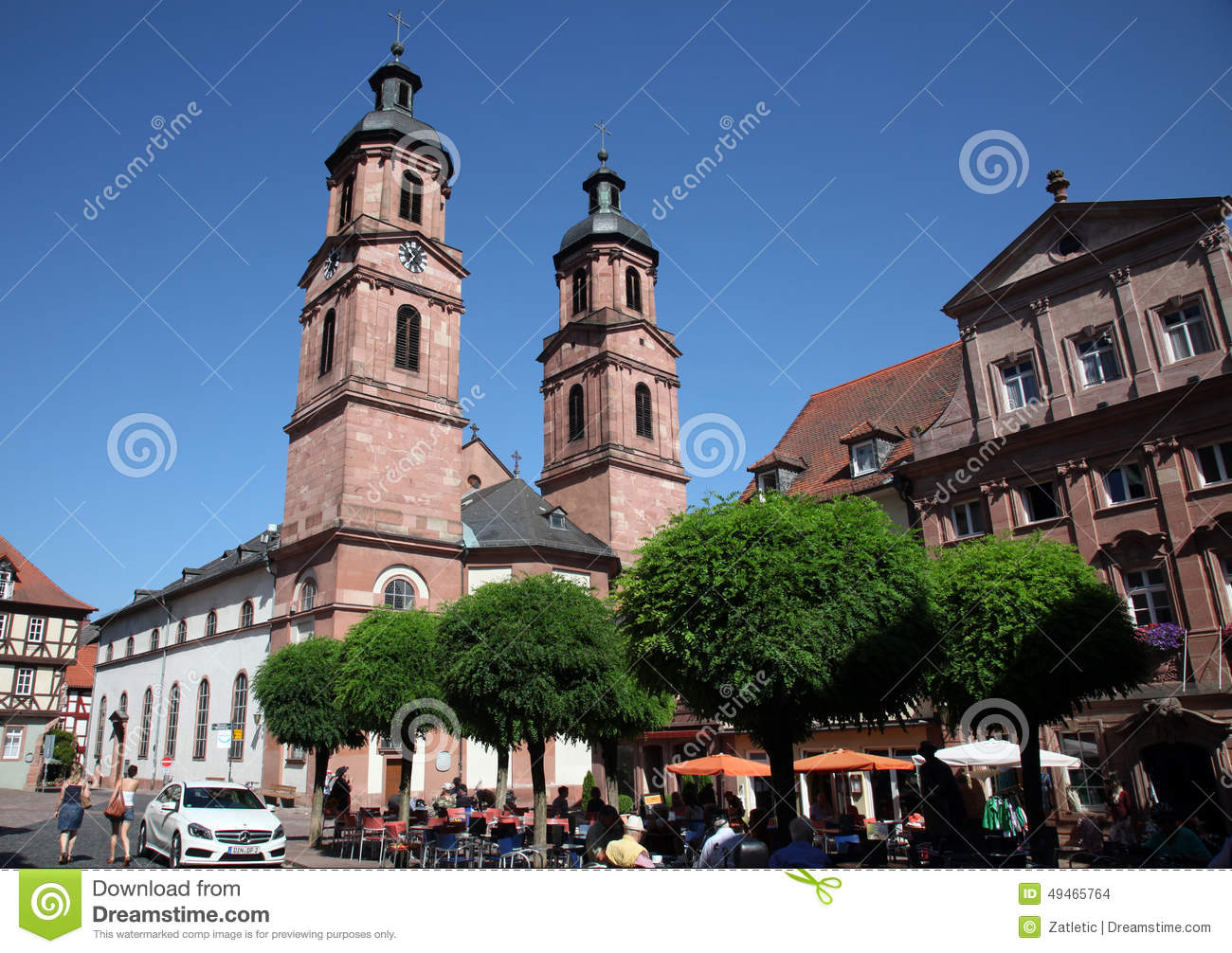 Church Of St. James In Miltenberg, Germany Editorial Stock Image.