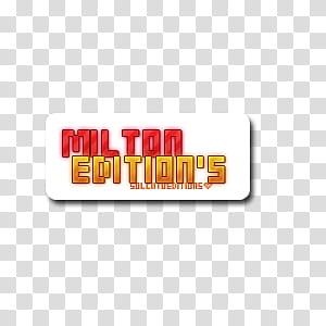 Milton Editions transparent background PNG clipart.