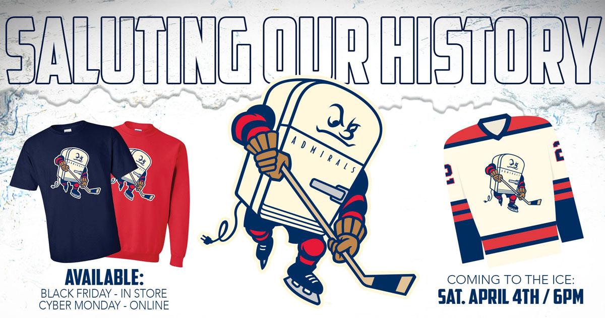 Milwaukee Admirals unveil a new fridge logo on alternate uniform.