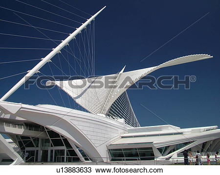 Stock Photo of Milwaukee, WI, Wisconsin, Downtown, Milwaukee Art.