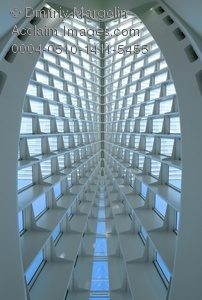 Stock Photo of the Milwaukee Art Museum Interior.