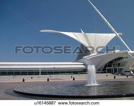 Picture of Milwaukee, WI, Wisconsin, Downtown, Milwaukee Art.