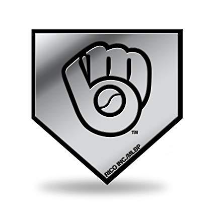 Amazon.com : MLB Milwaukee Brewers Ball & Glove Logo Molded.