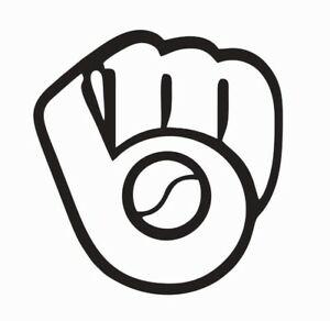 Details about Milwaukee Brewers Glove Vinyl Die Cut Car Decal Sticker.