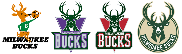 Milwaukee Bucks logo history.