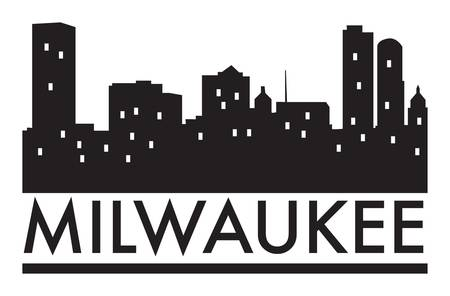 117 Milwaukee Skyline Stock Vector Illustration And Royalty.