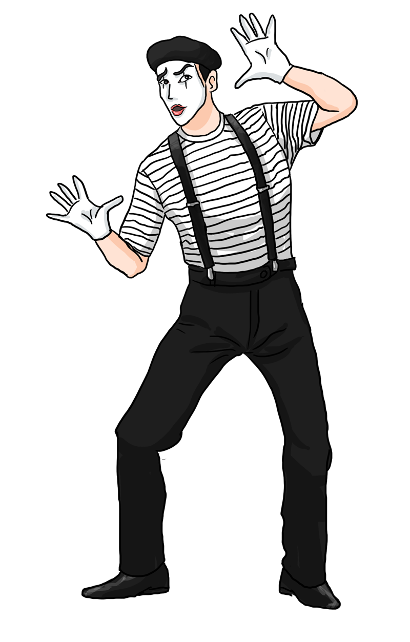 Mime clipart free.