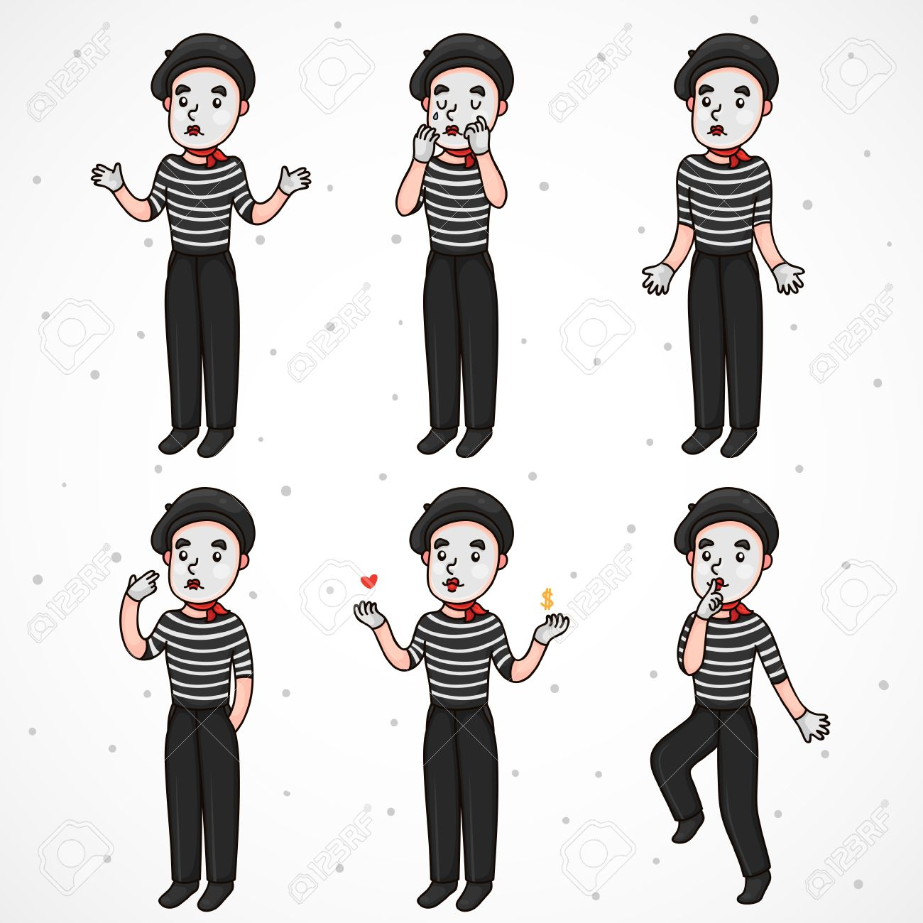 1,868 Mime Cliparts, Stock Vector And Royalty Free Mime Illustrations.
