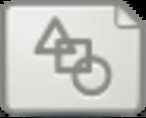 vector mimetype icon.