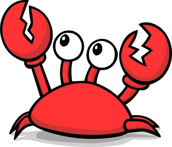 angry crab clip art.