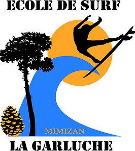École de surf La Garluche à Mimizan.