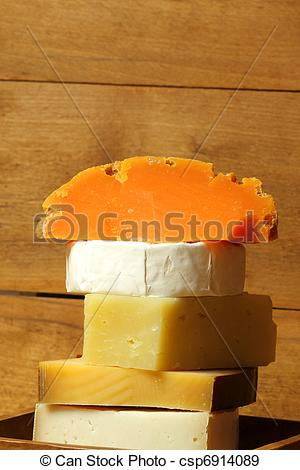 Stock Photographs of Cheese mimolette and others.