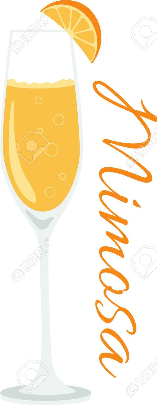 What a cool design of a delicious mimosa cocktail! This would...
