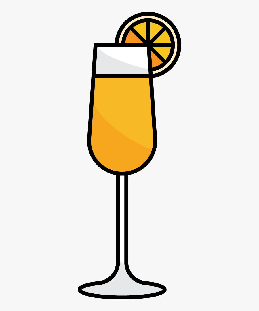 Champagne Clipart Mimosa.