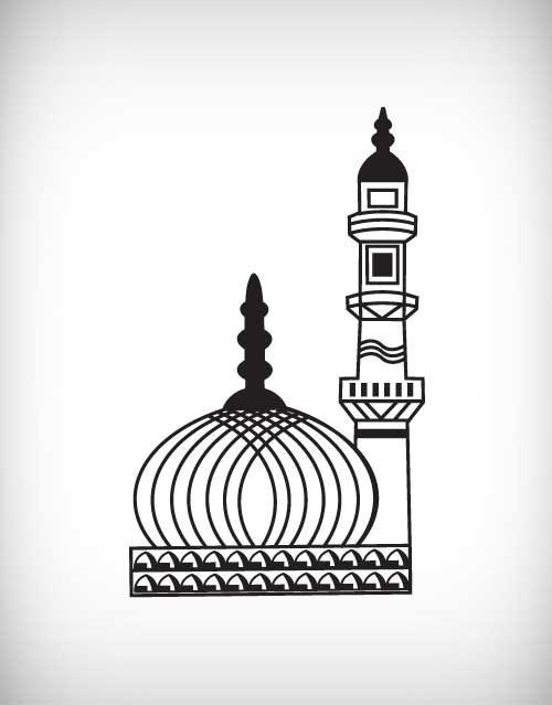 Masjid Minar Clipart.