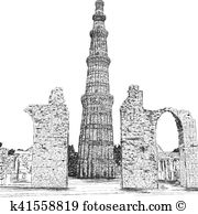 Qutub minar Clip Art Illustrations. 137 qutub minar clipart EPS.