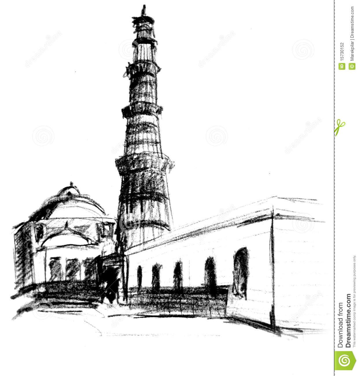 Minar Stock Illustrations.