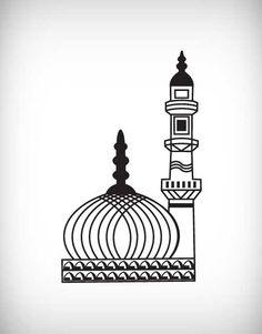 Eid mubarak clipart black and white.