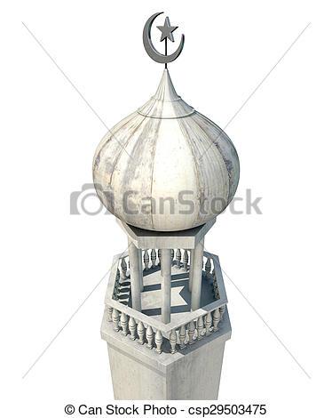 Stock Illustrations of Islamic Minaret.