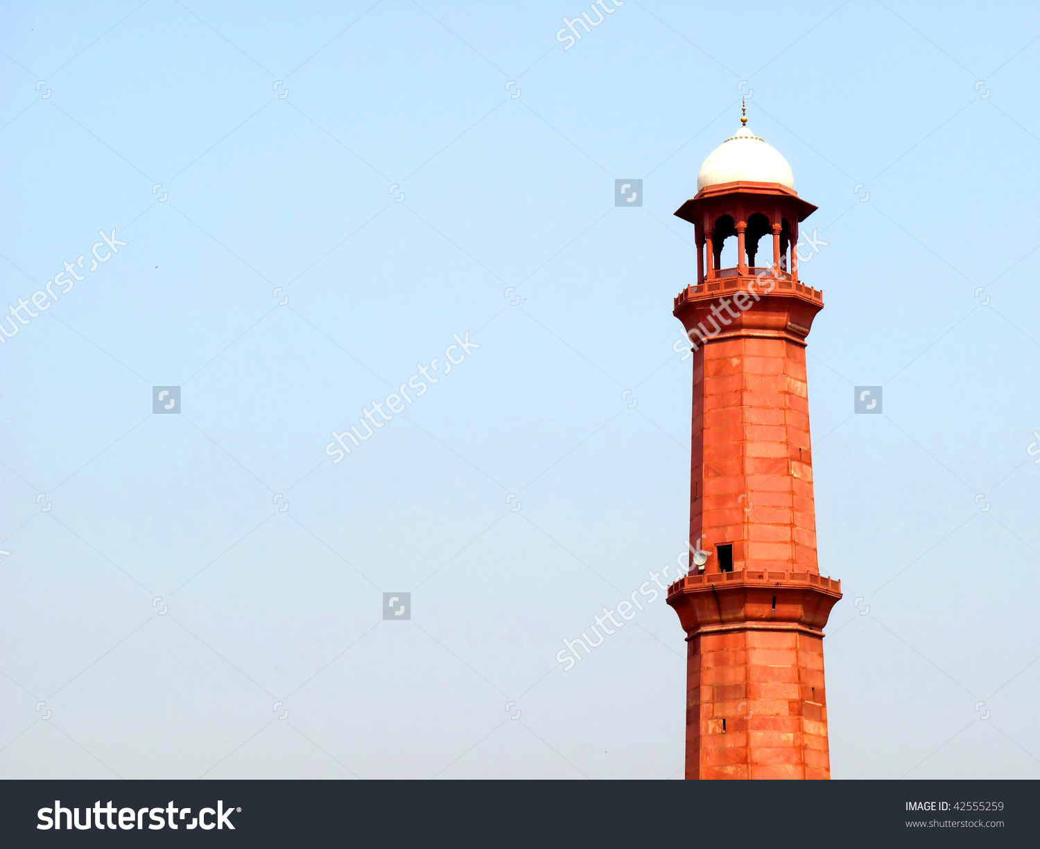 Tall Minaret Badshahi Mosque Lahore Measuring Stock Photo 42555259.