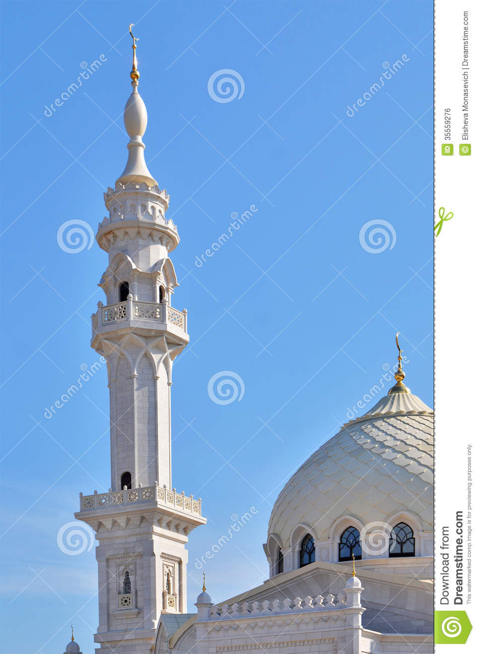 Minaret Of Mosque In Tatarstan, Russia Royalty Free Stock Image.