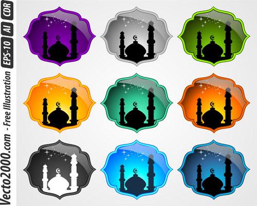 Minarets clip art.
