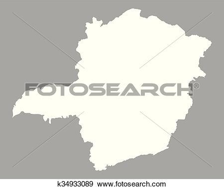 Clip Art of Map of Minas Gerais k34933089.