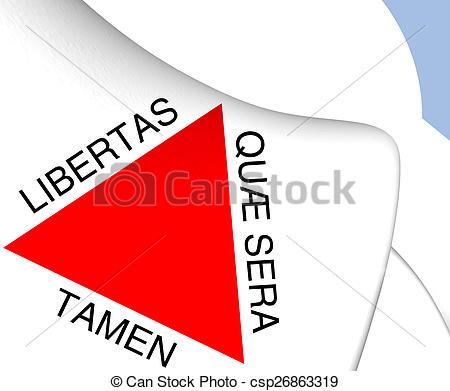 Clipart of Flag of Minas Gerais, Brazil. Close Up. csp26863319.