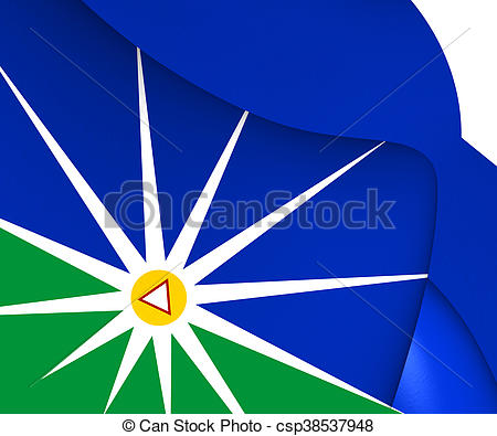 Stock Photo of Flag of Uberlandia (Minas Gerais), Brazil. 3D.