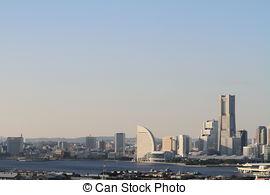Stock Photo of Yokohama Minato Mirai 21. View of Minato Mirai 21.
