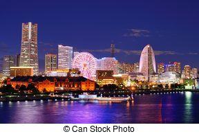 Stock Image of Ferris wheel minato mirai ,.