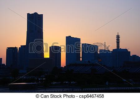 Stock Illustration of Yokohama, Japan.