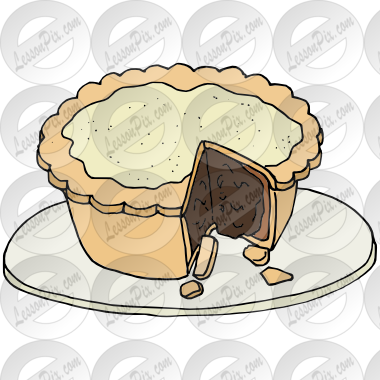 Mince Pie Picture for Classroom / Therapy Use.