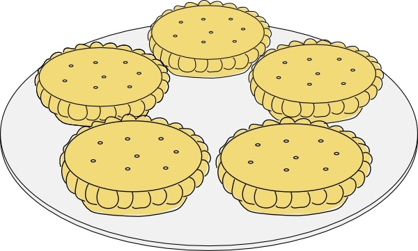 Mince Pies clip art Free vector in Open office drawing svg ( .svg.