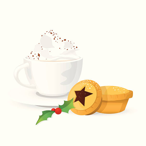 Mince Pie Illustrations, Royalty.