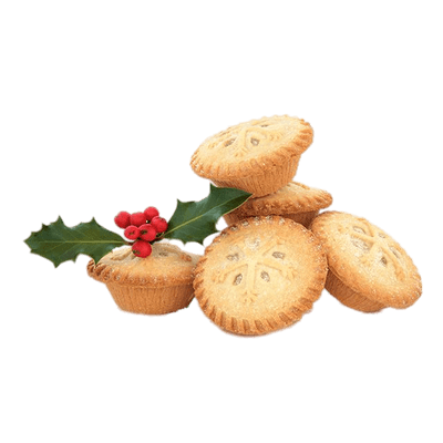 Christmas Themed Mince Pies transparent PNG.