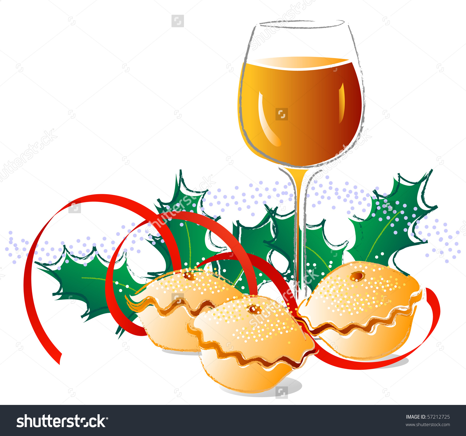 Sherry And Mince Pies Stock Vector Illustration 57212725.