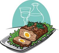 Mexican Meatloaf Clipart.