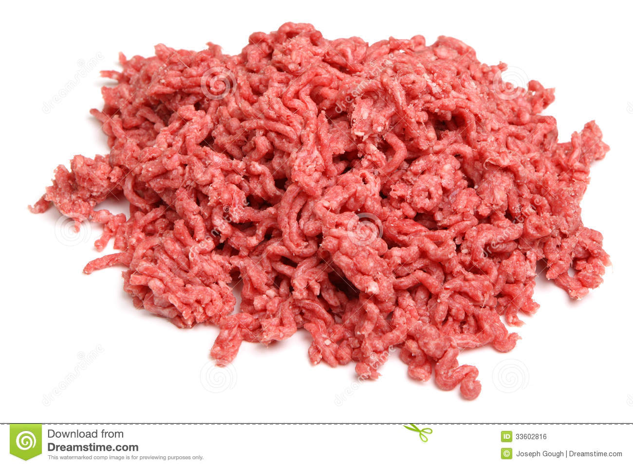 Raw Ground Beef Mince Royalty Free Stock Image.