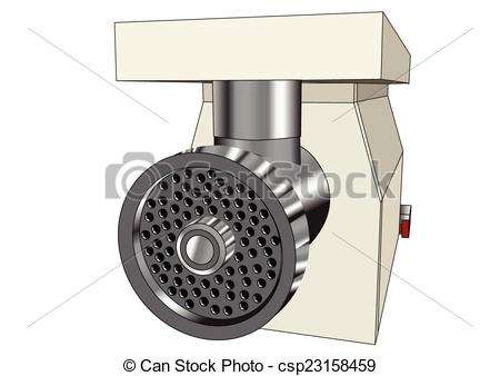 Clipart Vector of mincer isolated on white background 10 EPS.