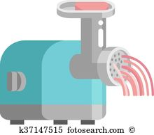 Mincing machine Clipart and Illustration. 129 mincing machine clip.