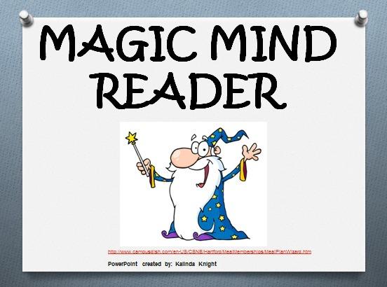 Magic Mind Reader Maths Lesson Plan.
