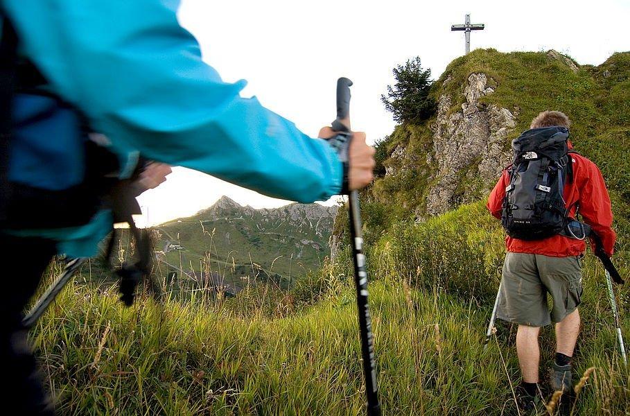 Hiking in Kleinwalsertal.