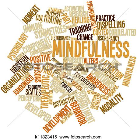 Stock Illustration of Word cloud for Mindfulness k11823415.