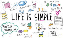 Mindfulness Optimism Relax Harmony Concept Stock Illustration.
